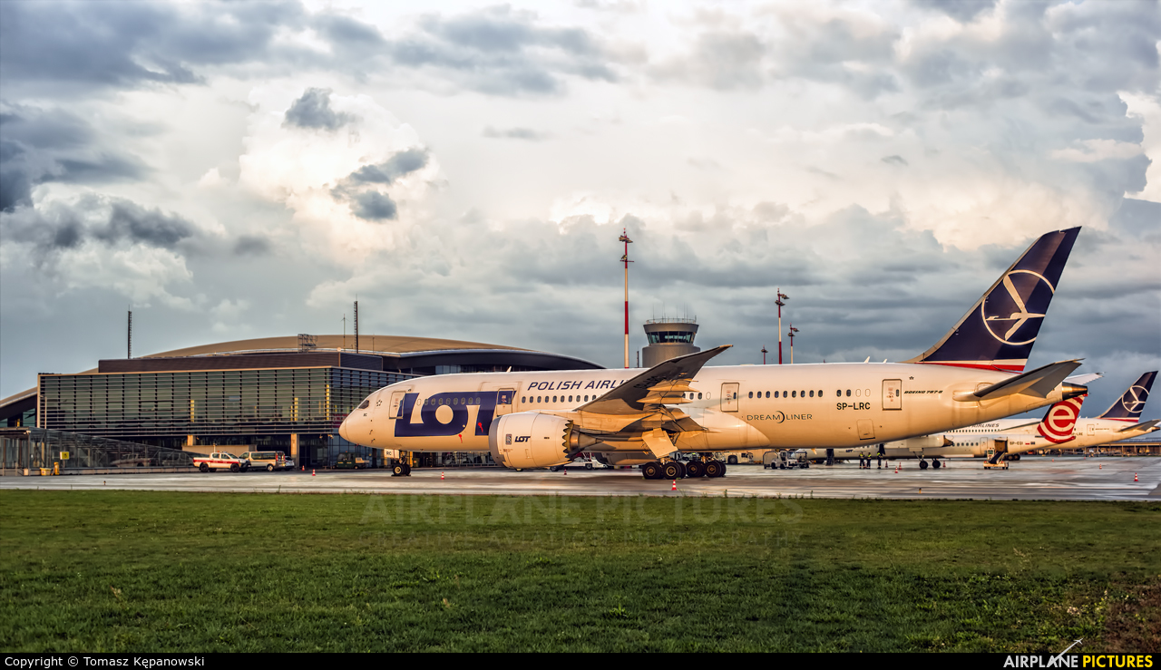 LOT - Polish Airlines SP-LRC aircraft at Rzeszów-Jasionka