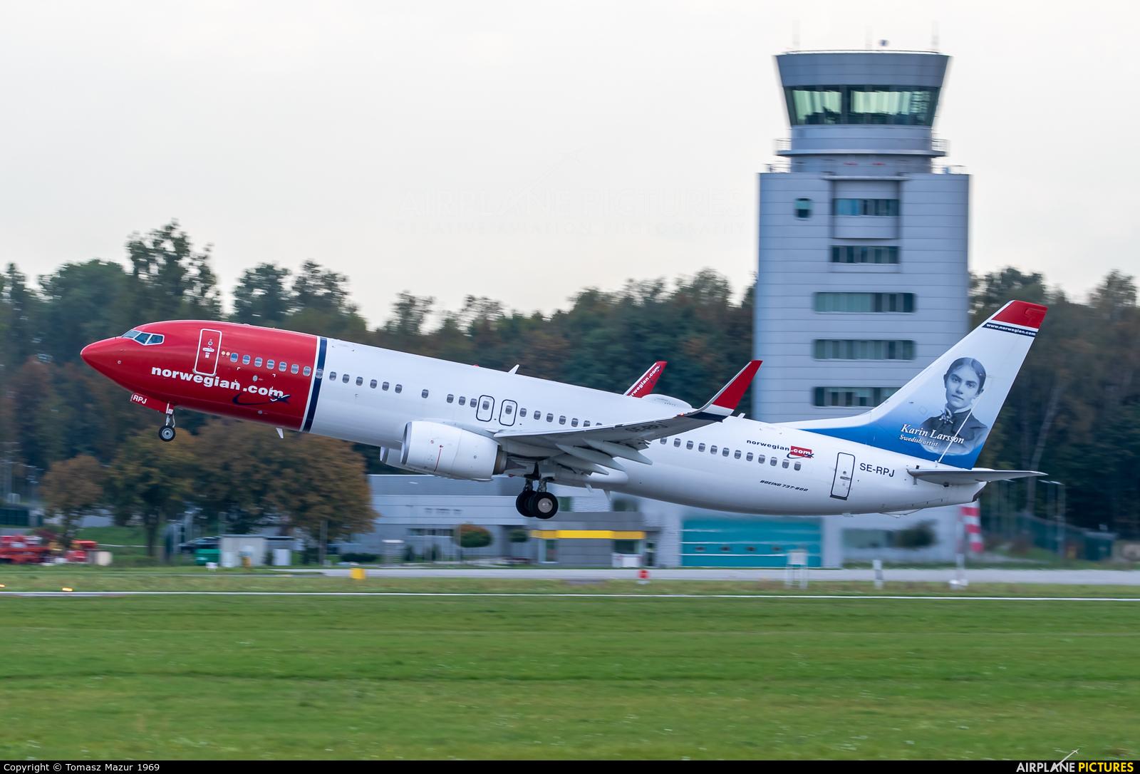 Norwegian Air Sweden SE-RPJ aircraft at Kraków - John Paul II Intl