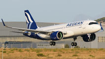 SX-NED - Aegean Airlines Airbus A320 NEO aircraft