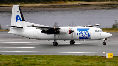 SE-MFB - AmaPola Flyg Fokker 50F
