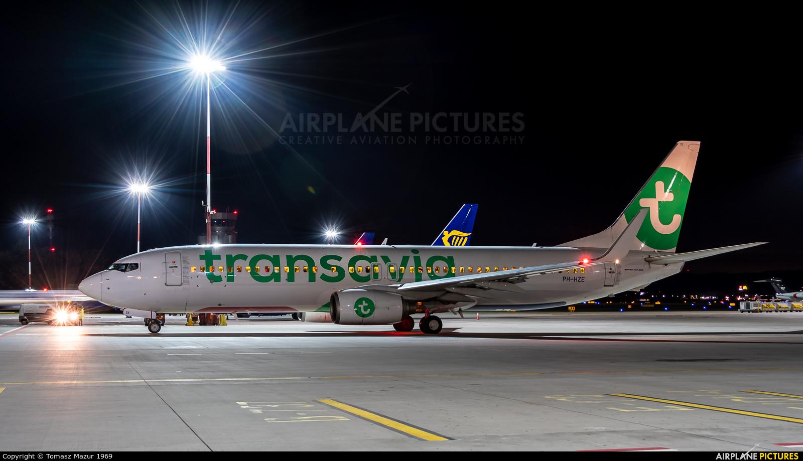 Transavia PH-HZE aircraft at Kraków - John Paul II Intl