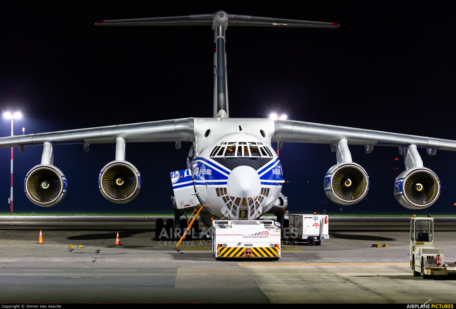 Volga Dnepr Airlines RA-76951 aircraft at Ostend / Bruges
