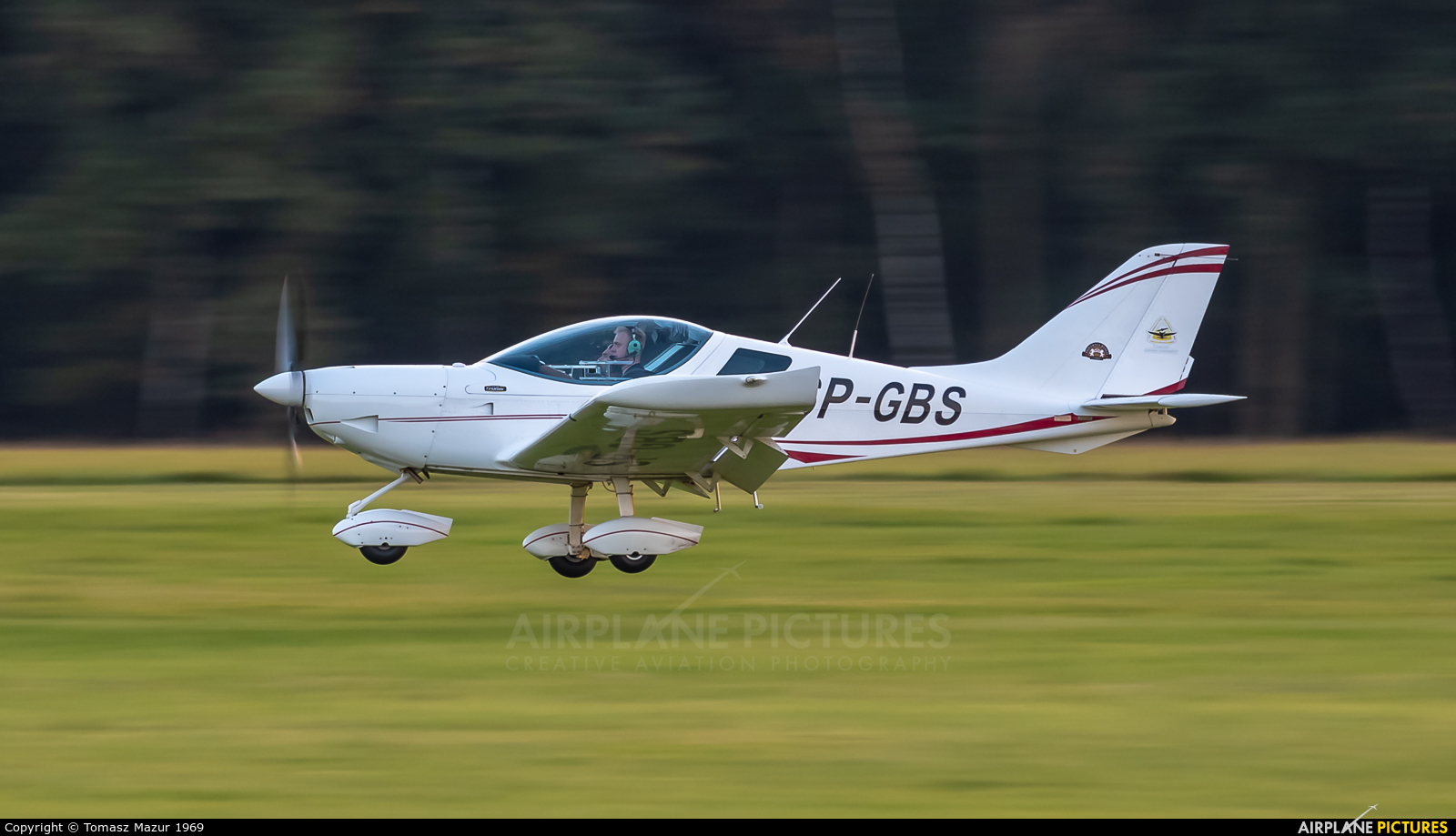 Private SP-GBS aircraft at Rybnik - Gotartowice