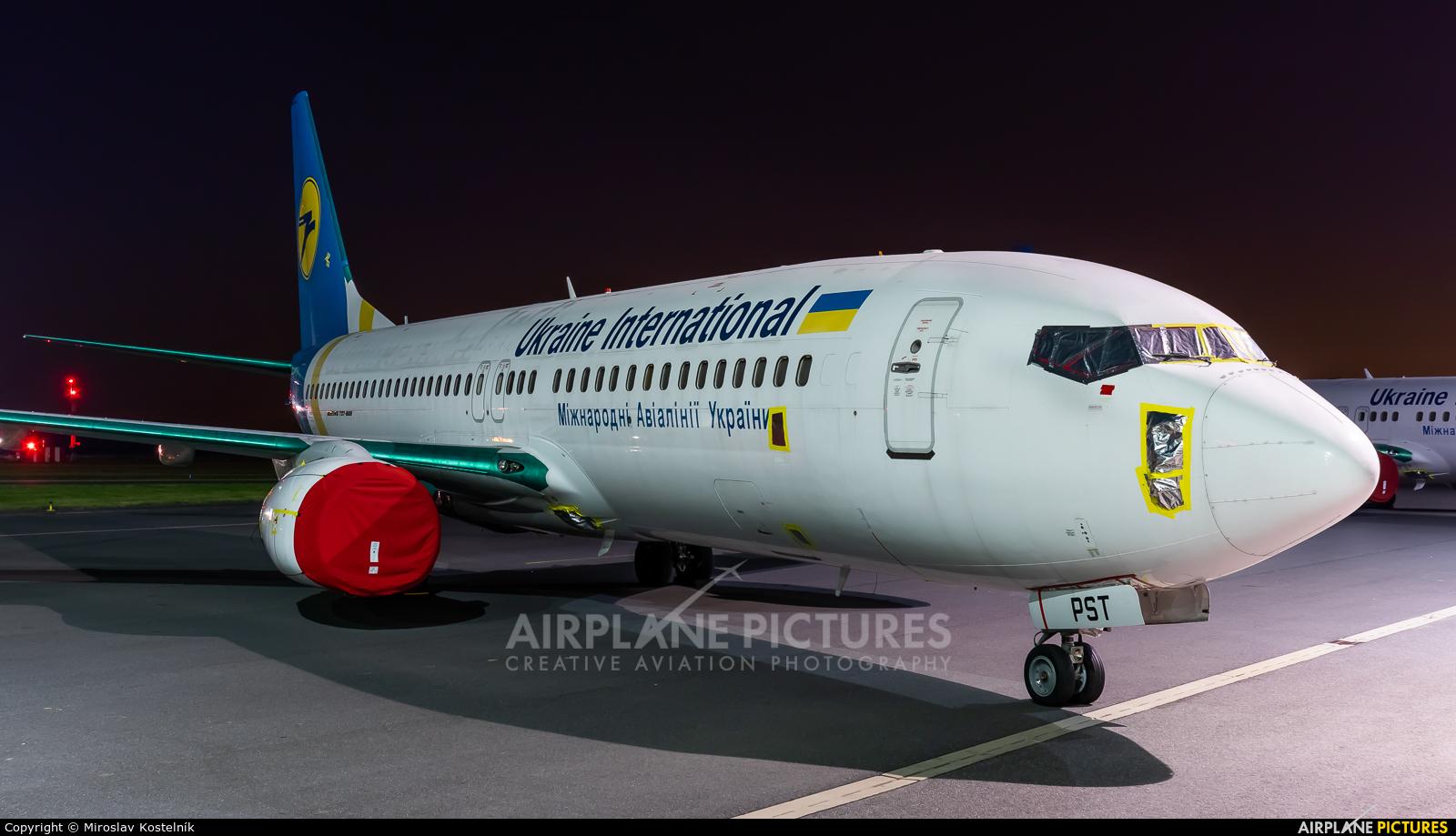 Ukraine International Airlines UR-PST aircraft at Ostrava Mošnov