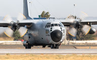 Belgian Air Force C-130 at Seville San Pablo Airport title=