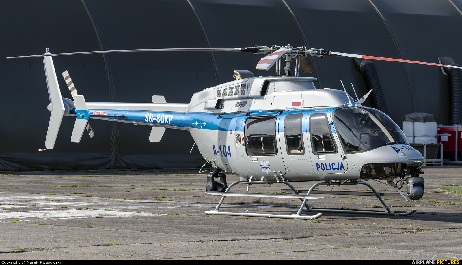 Poland - Police SN-80XP aircraft at Warsaw - Babice