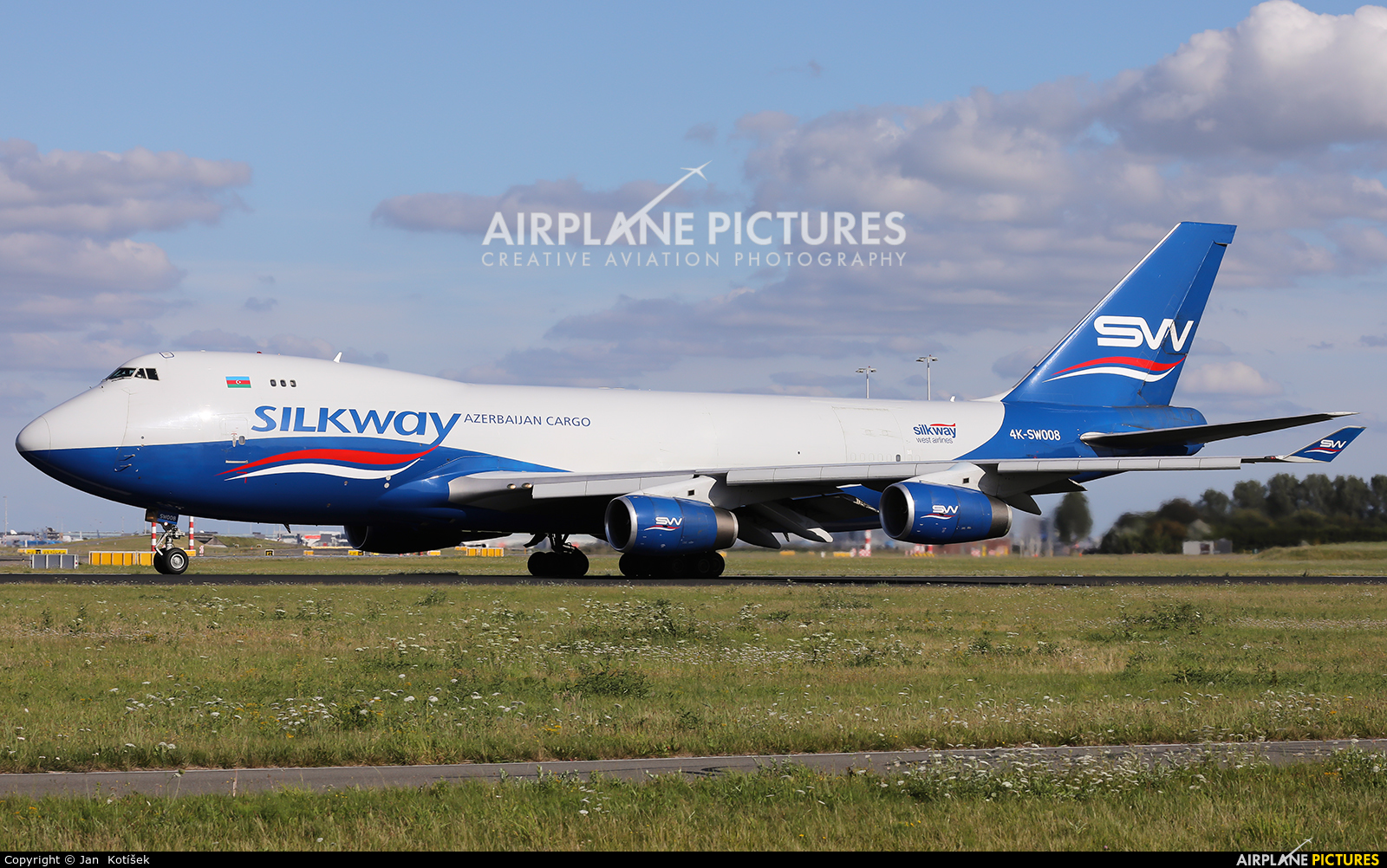 Silk Way Airlines 4K-SW008 aircraft at Amsterdam - Schiphol