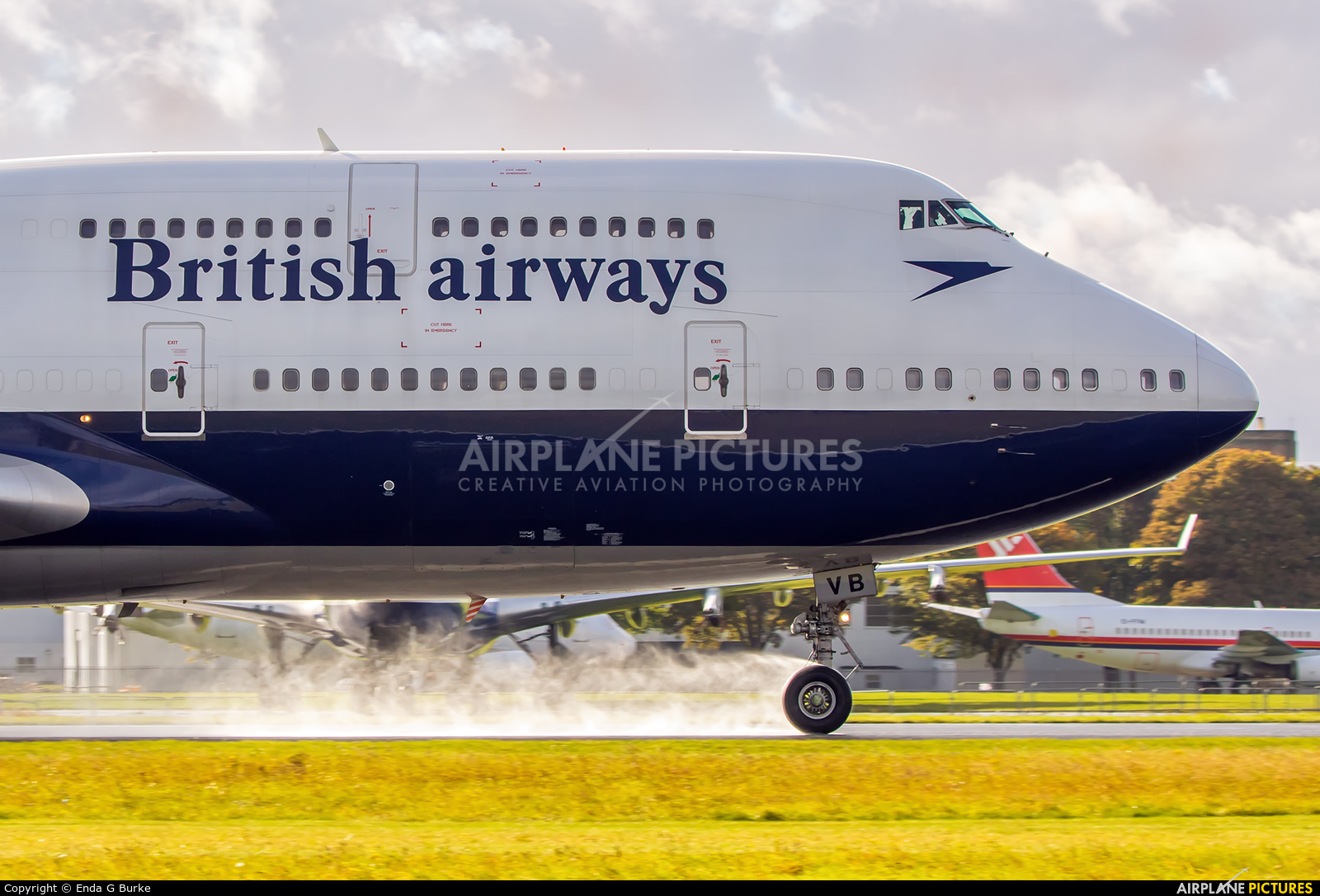 British Airways G-CIVB aircraft at Kemble