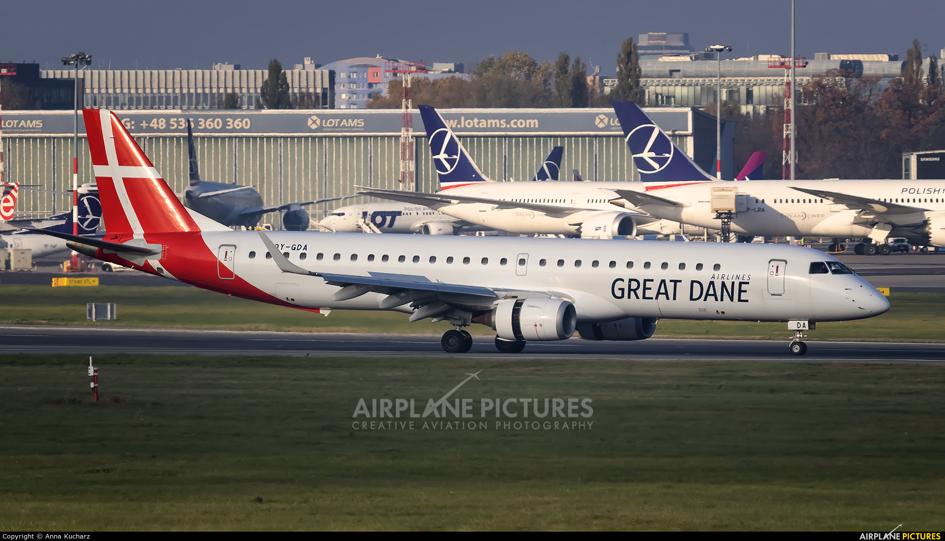 Great Dane Airlines OY-GDA aircraft at Warsaw - Frederic Chopin