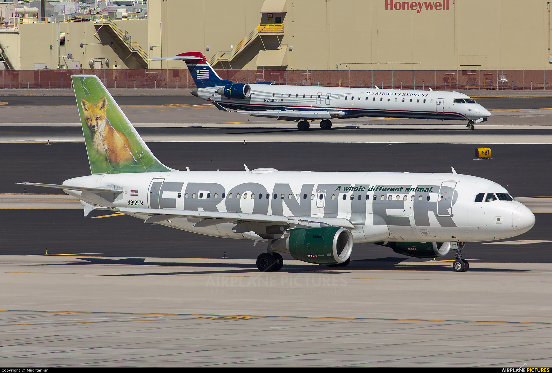 Frontier Airlines N912FR aircraft at Phoenix - Sky Harbor Intl
