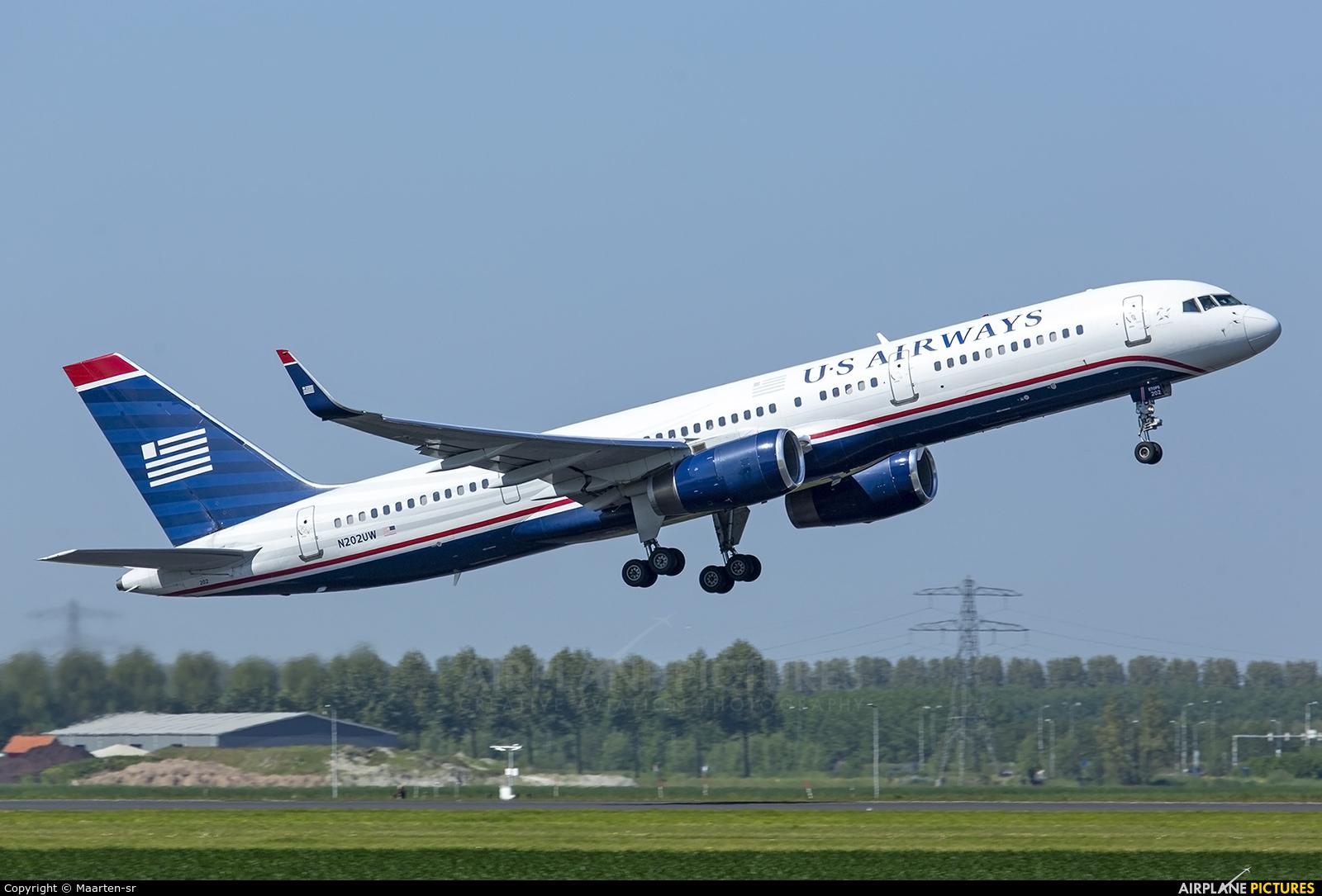US Airways N202UW aircraft at Amsterdam - Schiphol