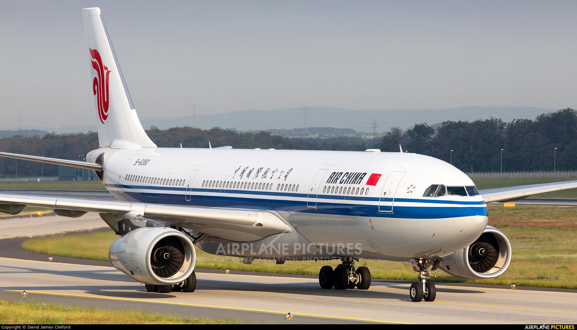Air China B-6080 aircraft at Frankfurt