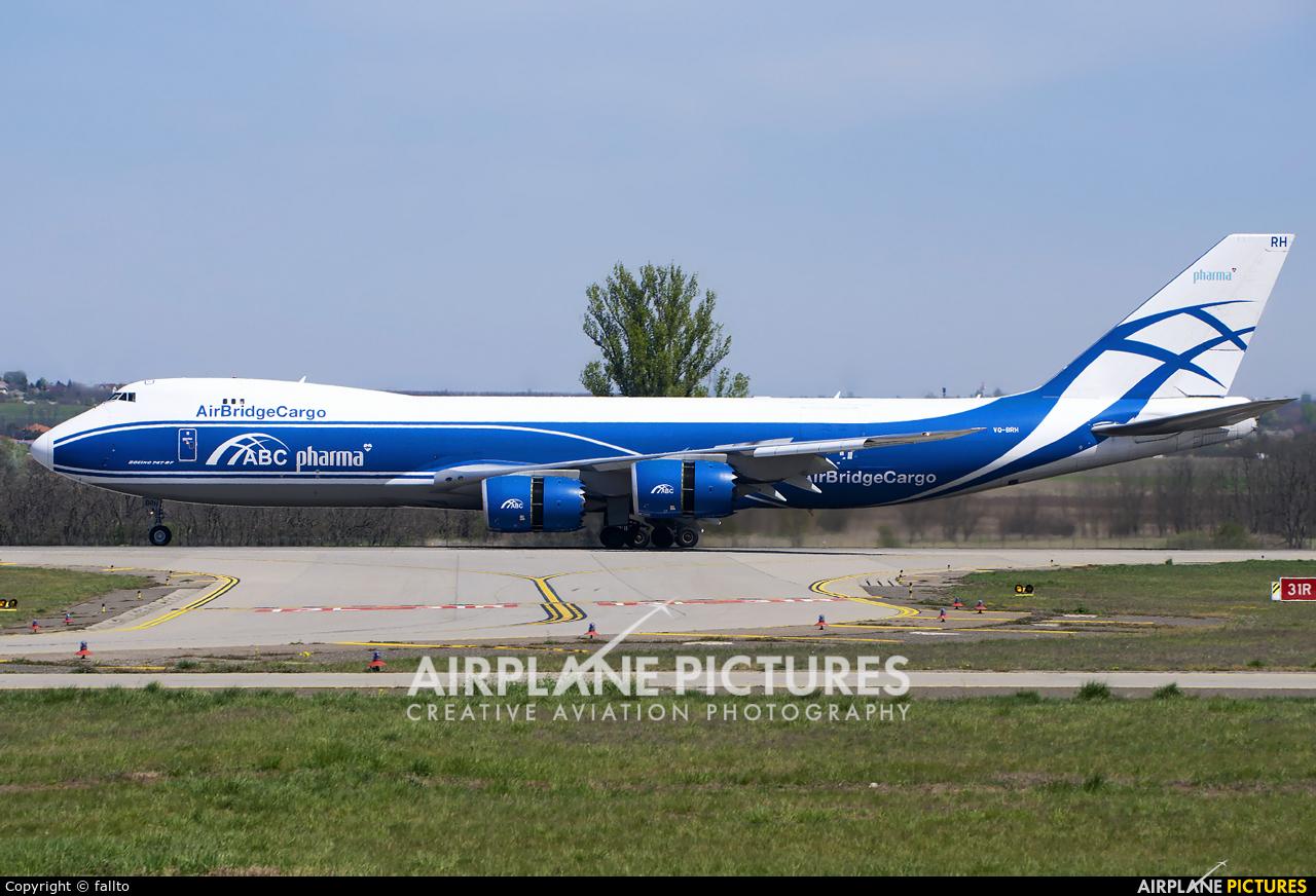 Air Bridge Cargo VQ-BRH aircraft at Budapest Ferenc Liszt International Airport