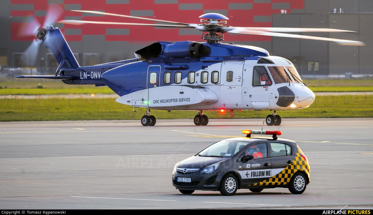 Bristow Helicopters LN-ONV aircraft at Rzeszów-Jasionka