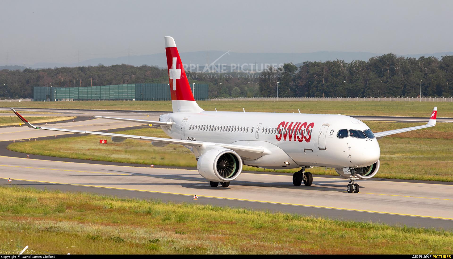 Swiss HB-JCO aircraft at Frankfurt