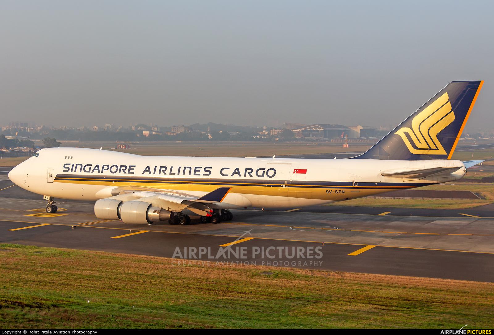 Singapore Airlines Cargo 9V-SFN aircraft at Mumbai - Chhatrapati Shivaji Intl