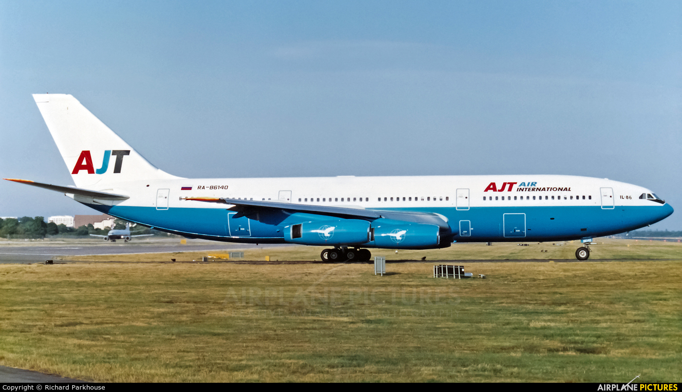 AJT Air International RA-86140 aircraft at London - Gatwick