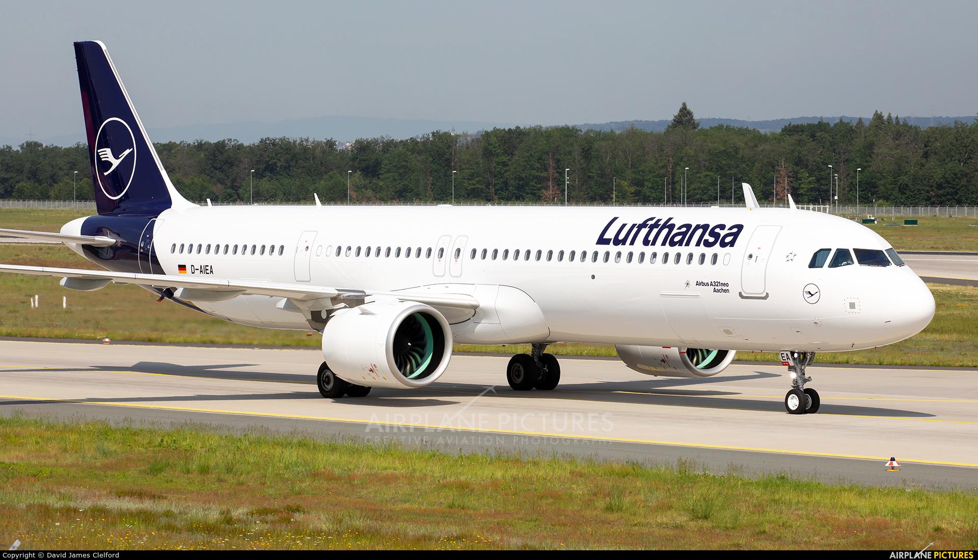 Lufthansa D-AIEA aircraft at Frankfurt