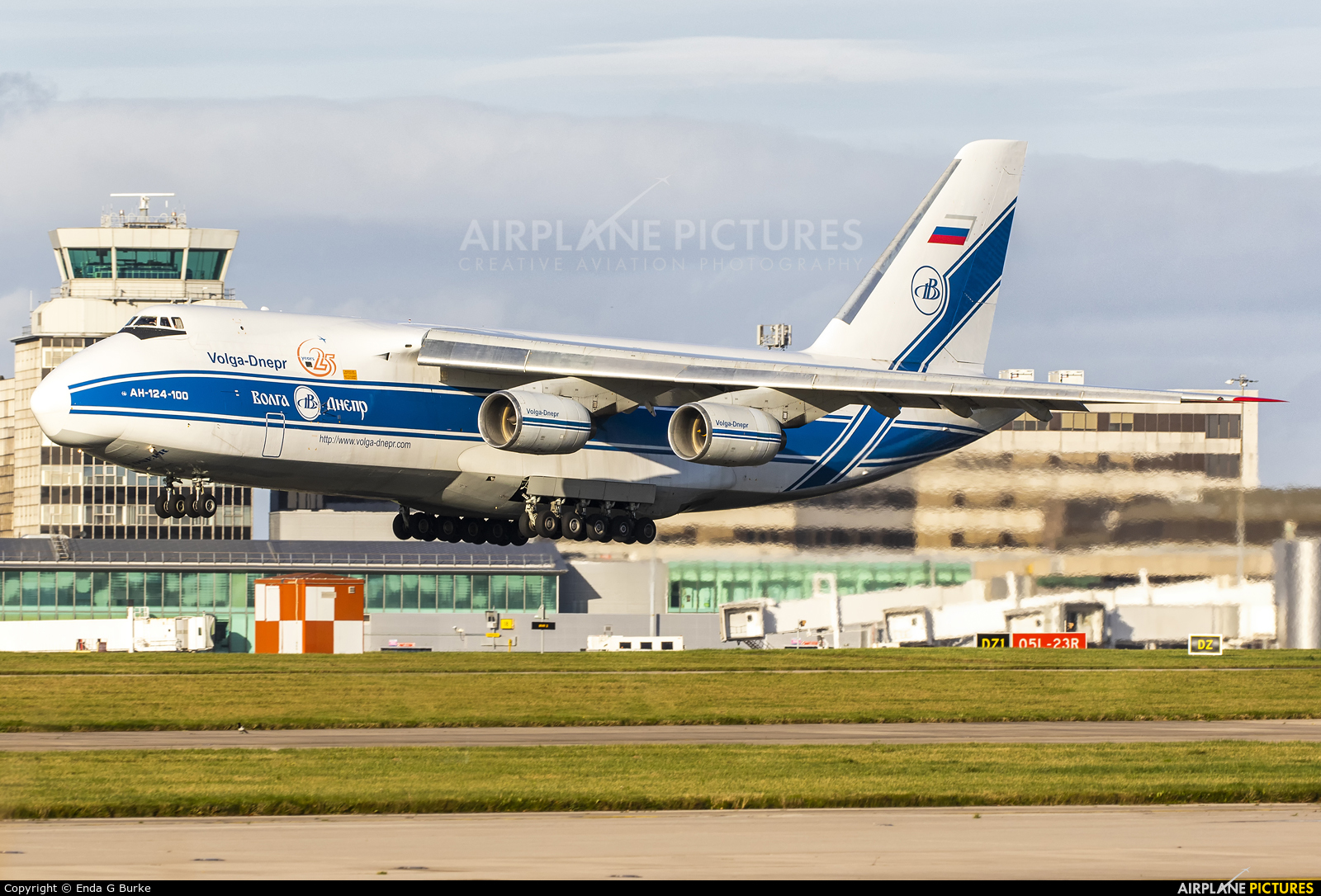 Volga Dnepr Airlines RA-82079 aircraft at Manchester