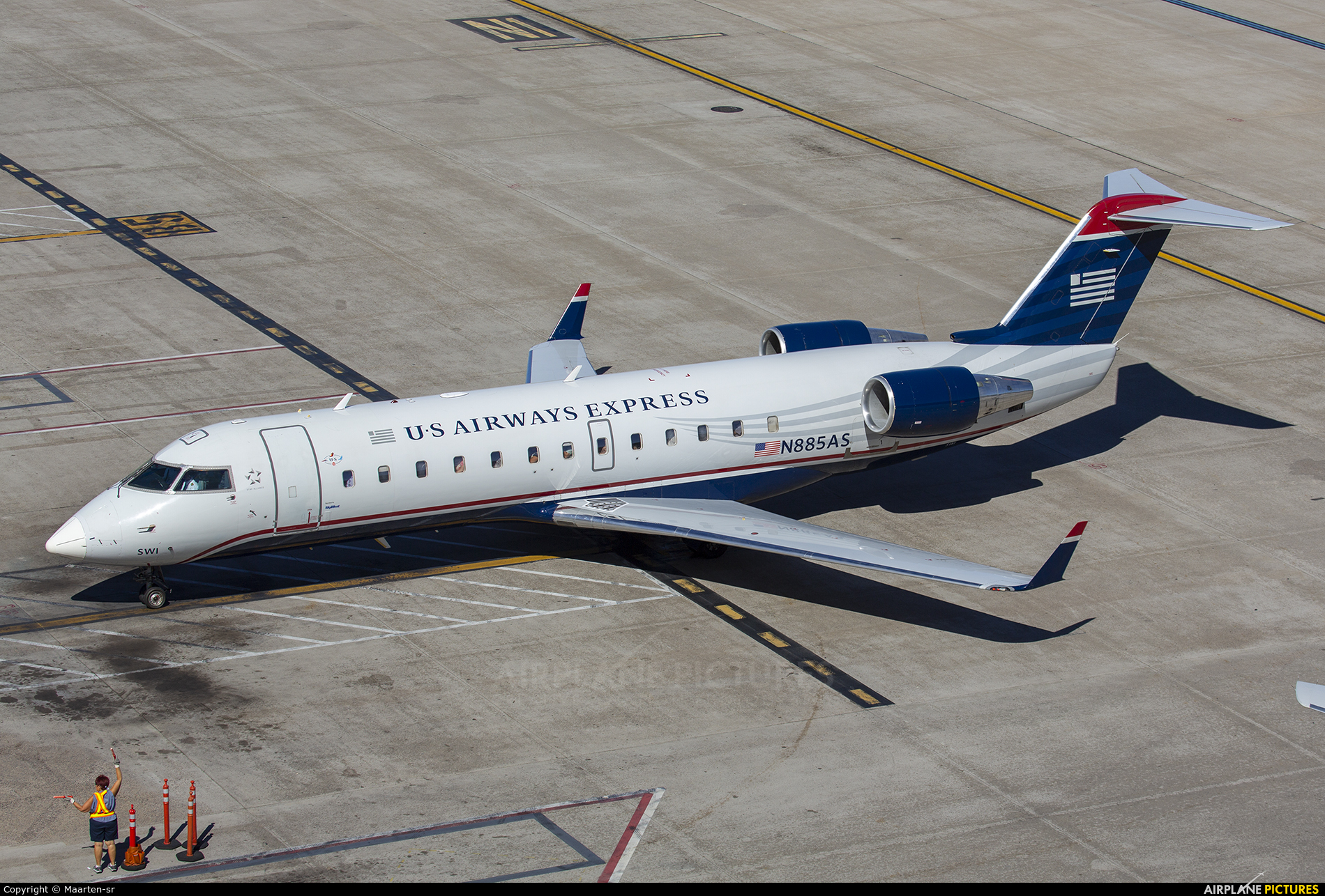 US Airways Express N885AS aircraft at Phoenix - Sky Harbor Intl
