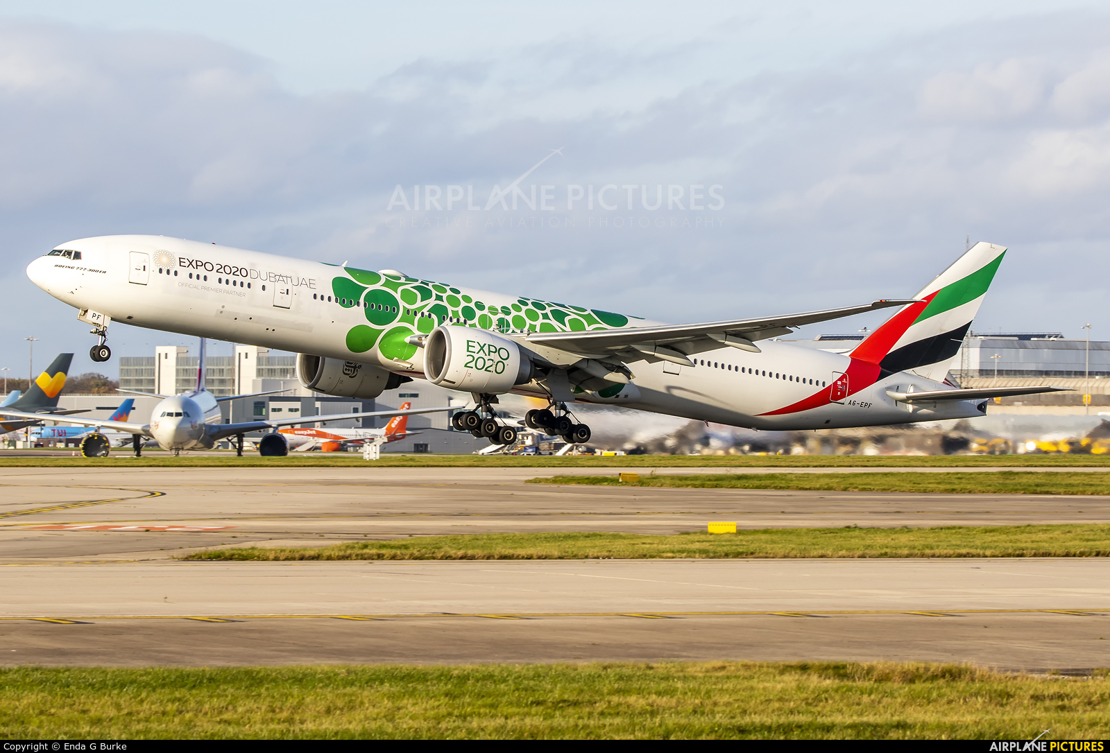 Emirates Airlines A6-EPF aircraft at Manchester