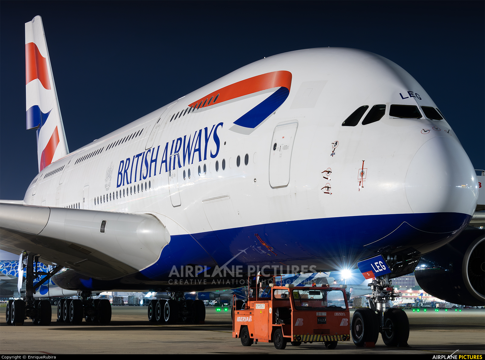 British Airways G-XLEG aircraft at Madrid - Barajas
