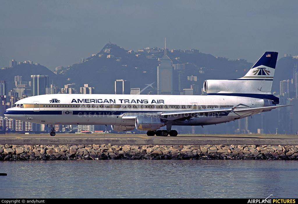 American Trans Air N185AT aircraft at HKG - Kai Tak Intl CLOSED