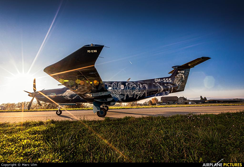 FLY 7 Executive Aviation SA OH-SSS aircraft at Lausanne - La Blécherette