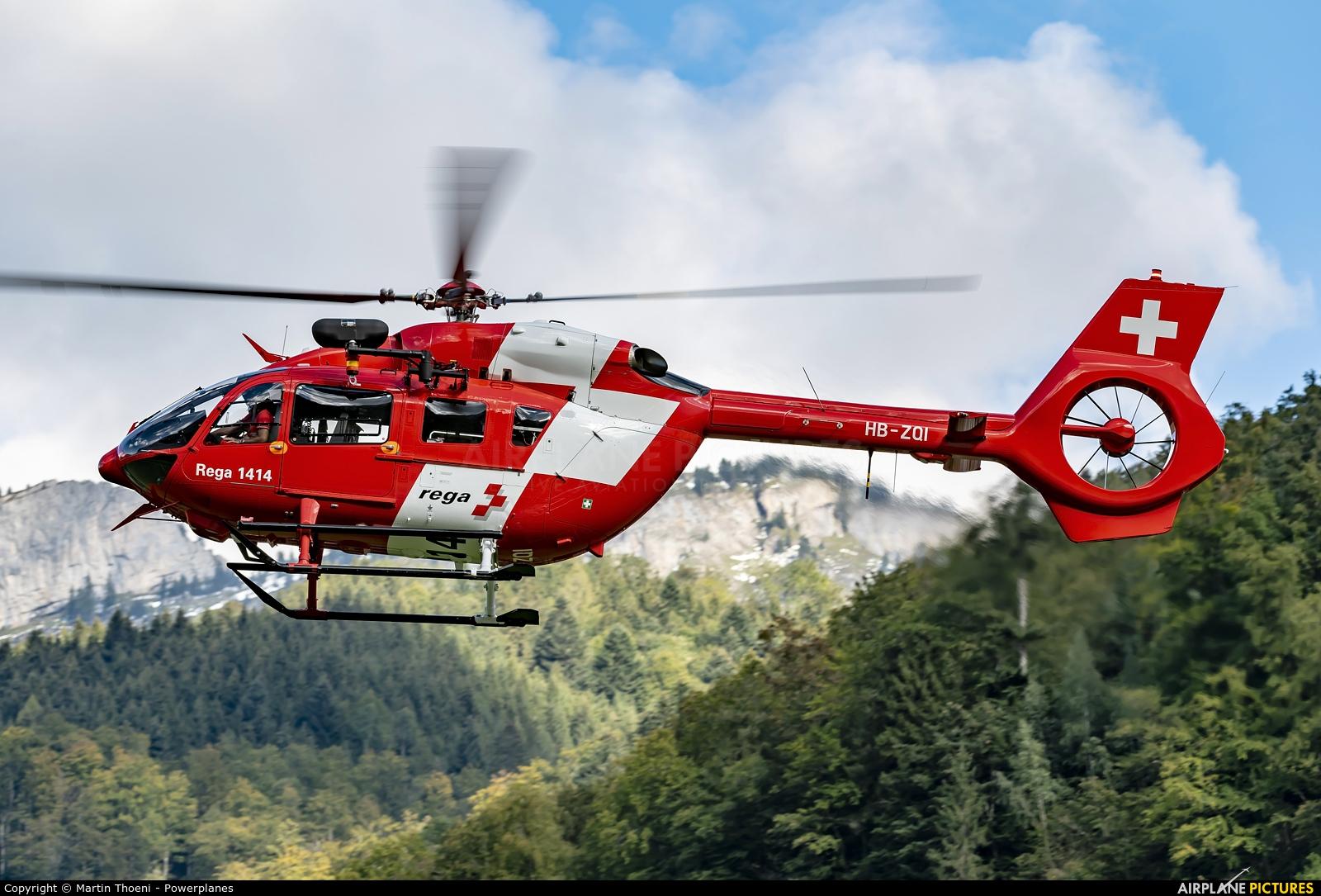 REGA Swiss Air Ambulance  HB-ZQI aircraft at Mollis