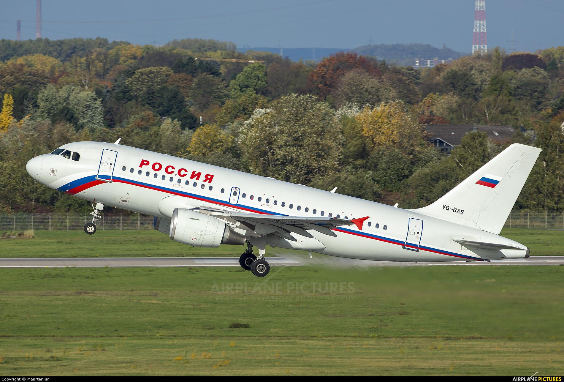 Rossiya VQ-BAS aircraft at Düsseldorf