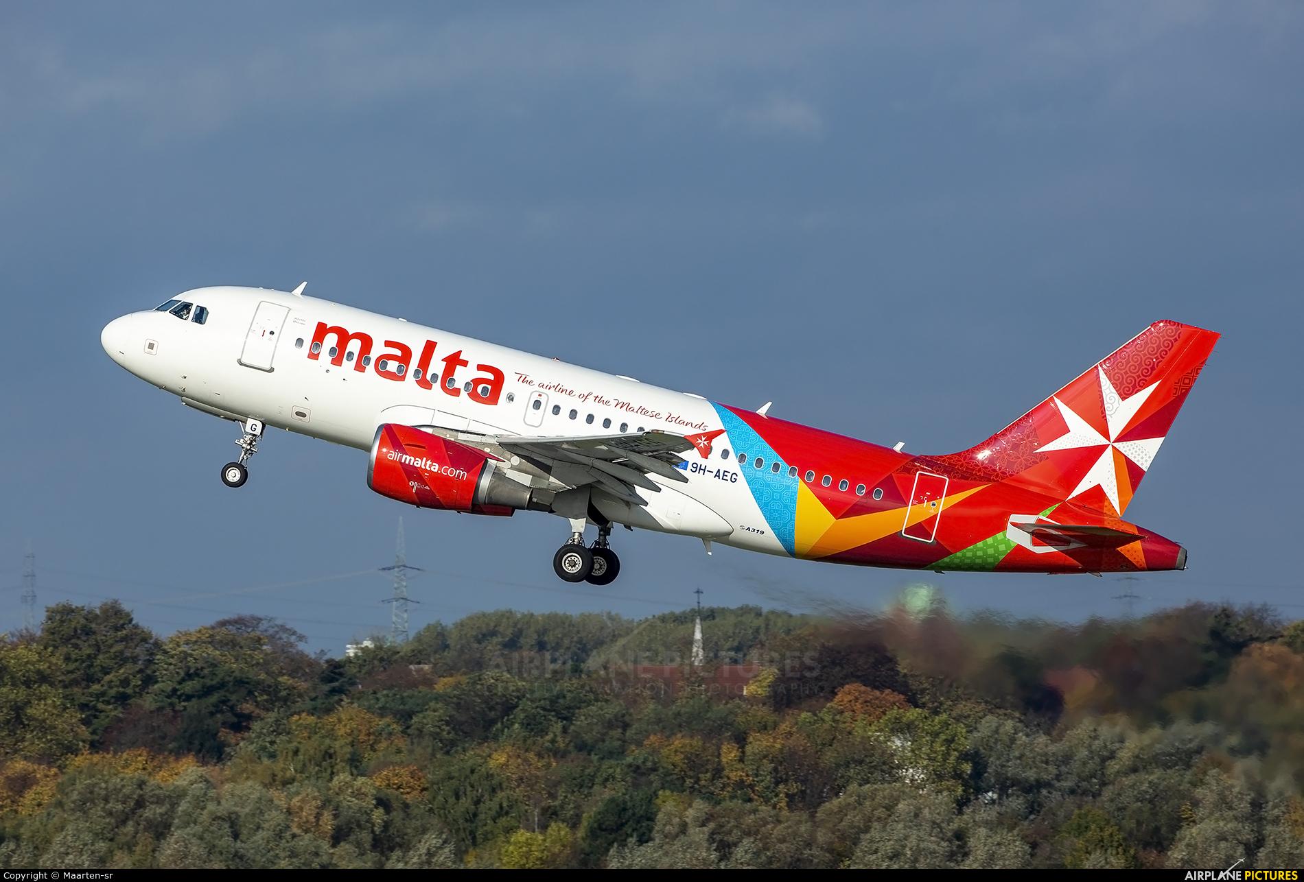 Air Malta 9H-AEG aircraft at Düsseldorf