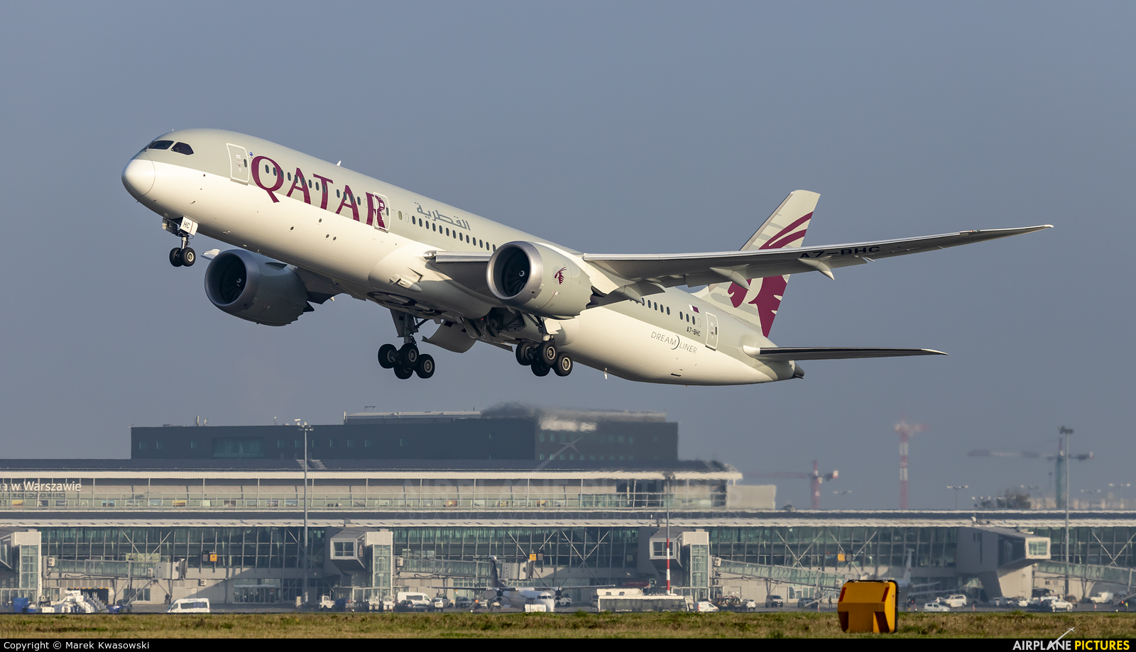Qatar Airways A7-BHC aircraft at Warsaw - Frederic Chopin