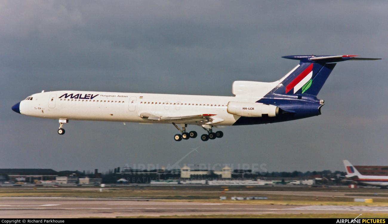 Malev HA-LCR aircraft at London - Heathrow