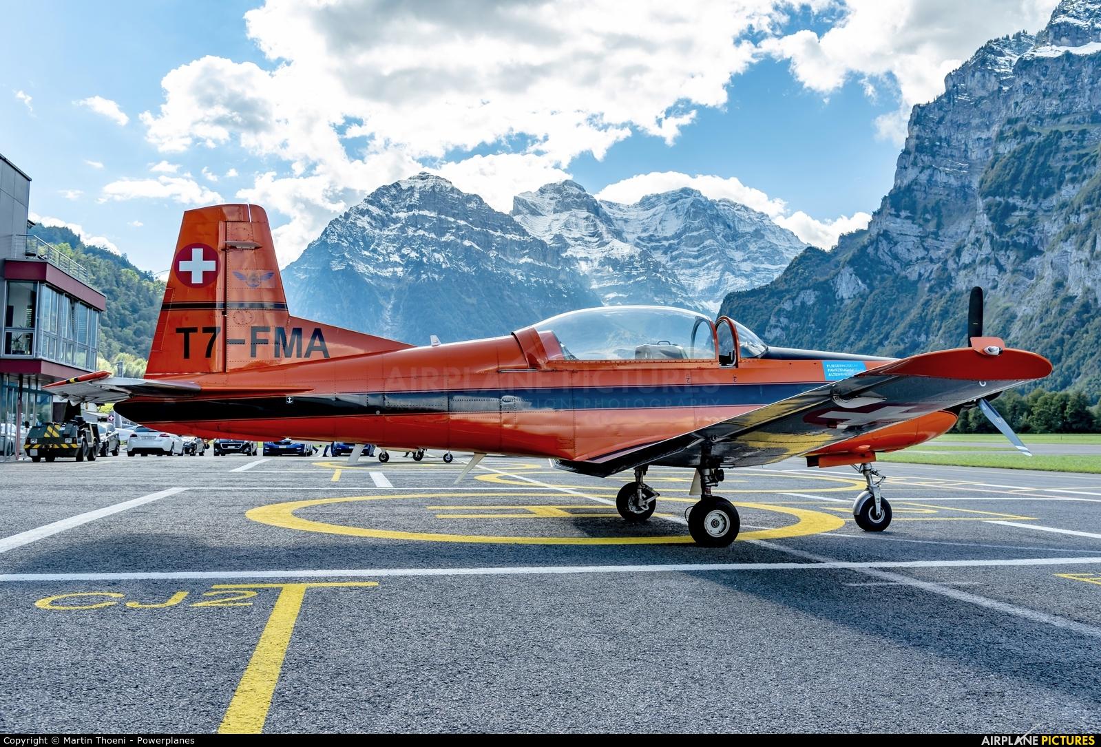 FFA Museum T7-FMA aircraft at Mollis