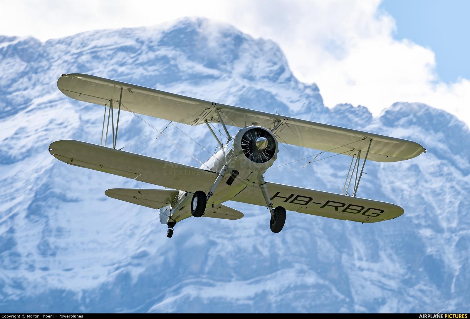 Private HB-RBG aircraft at Mollis