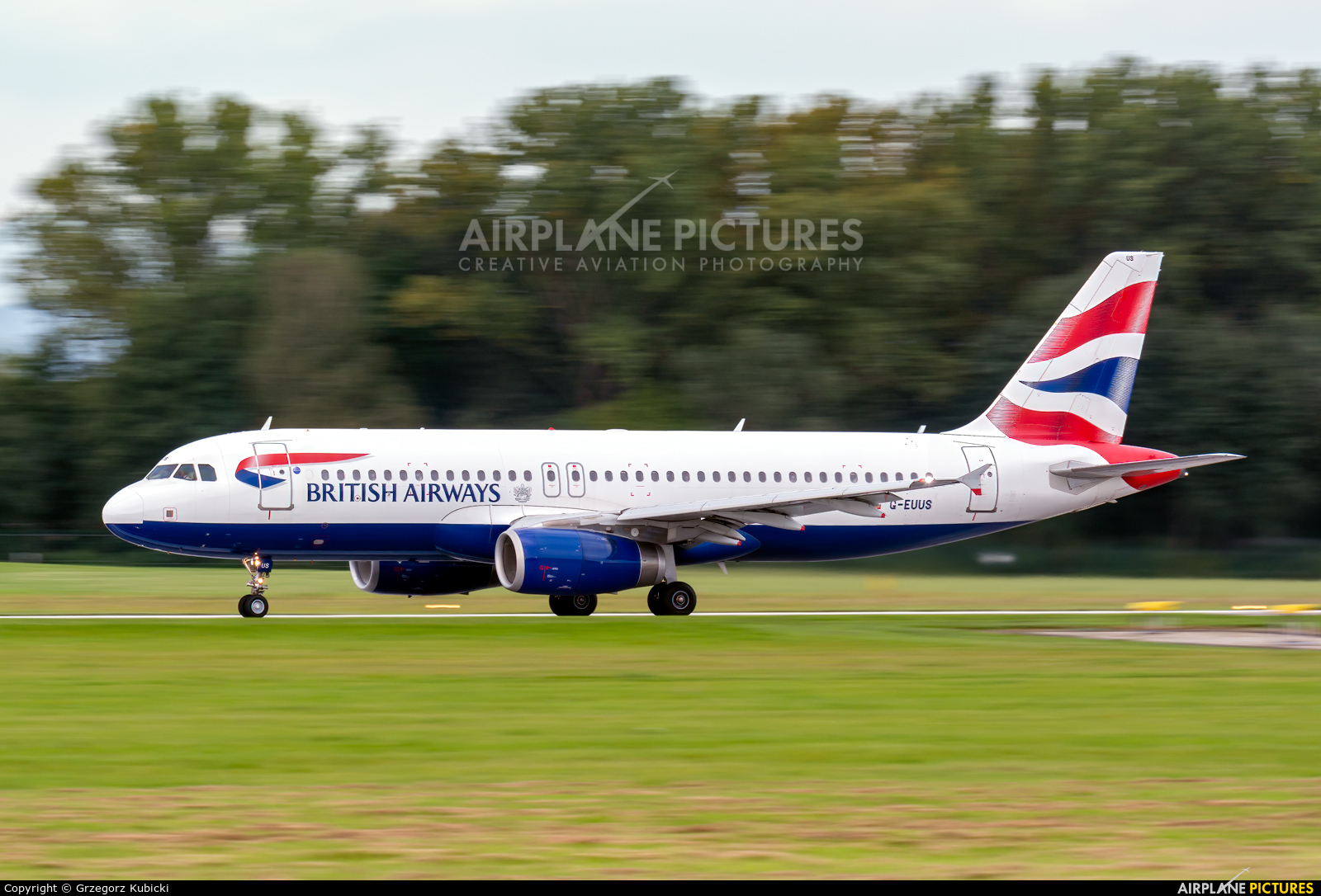 British Airways G-EUUS aircraft at Kraków - John Paul II Intl