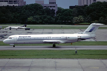 PK-JGC - Sempati Air Fokker 100