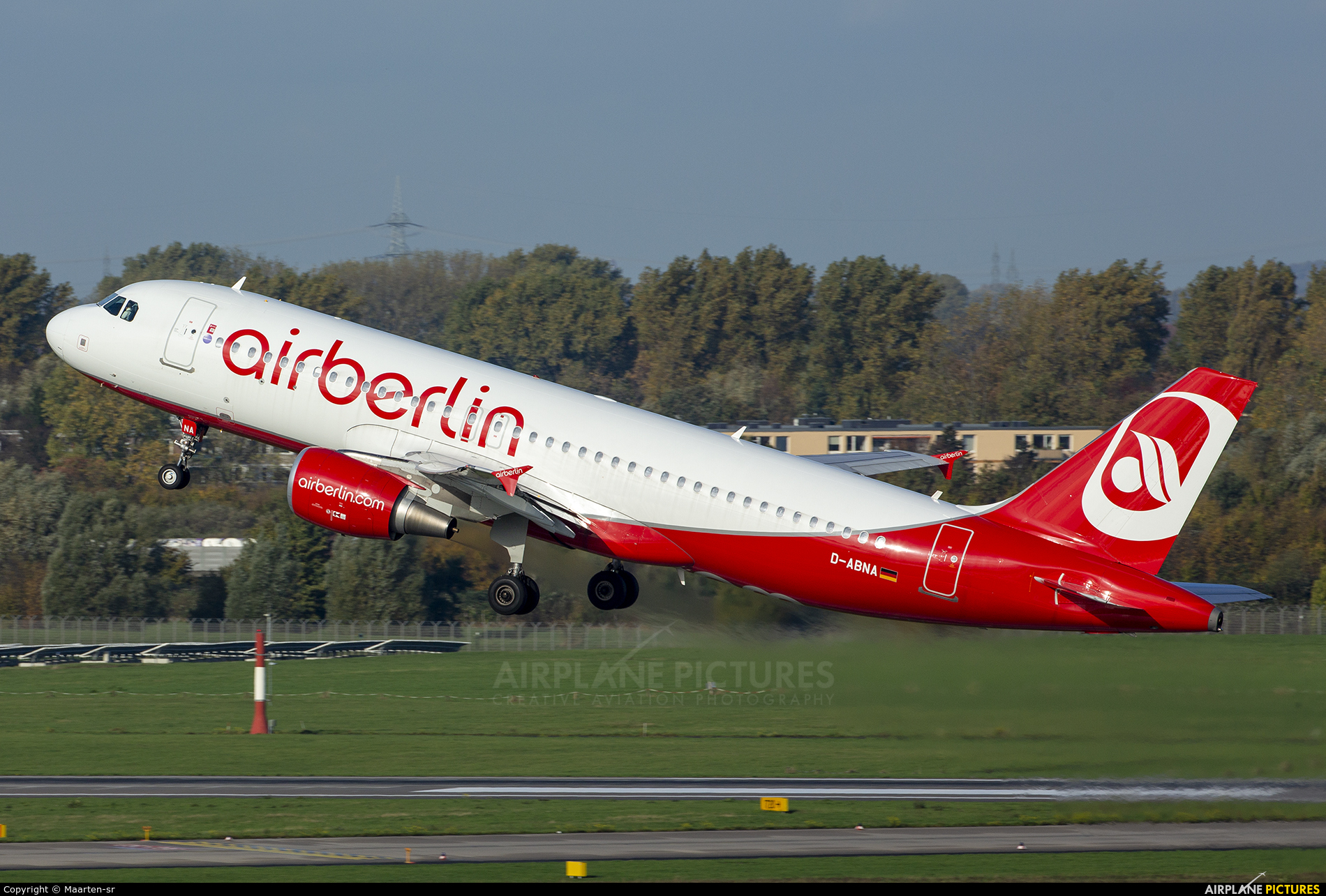 Air Berlin D-ABNA aircraft at Düsseldorf
