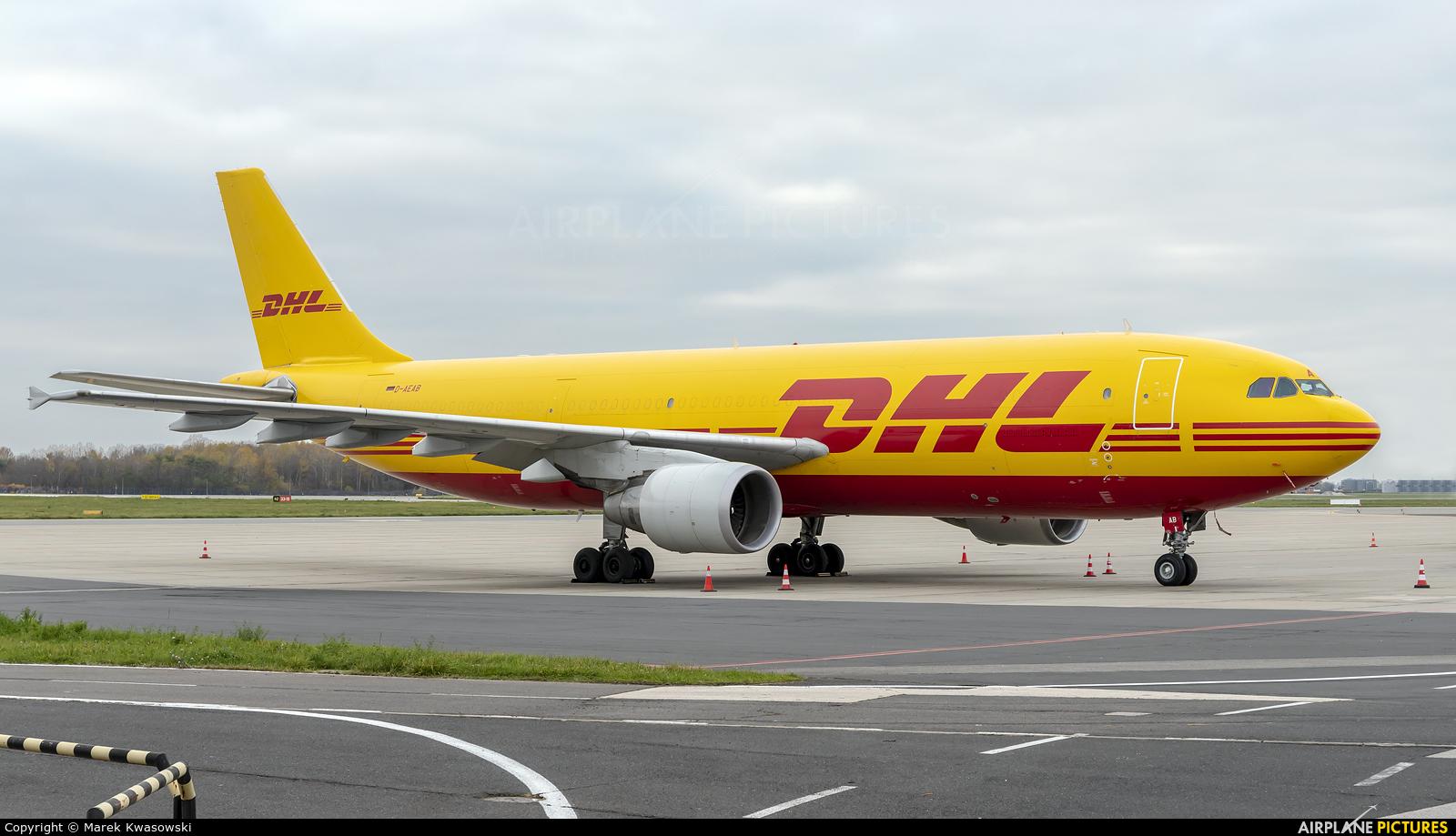 DHL Cargo D-AEAB aircraft at Warsaw - Frederic Chopin