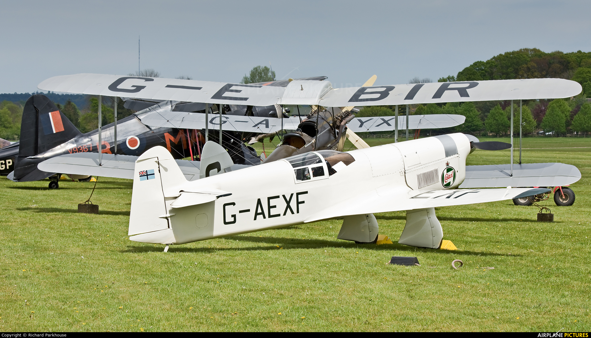 The Shuttleworth Collection G-AEXF aircraft at Old Warden