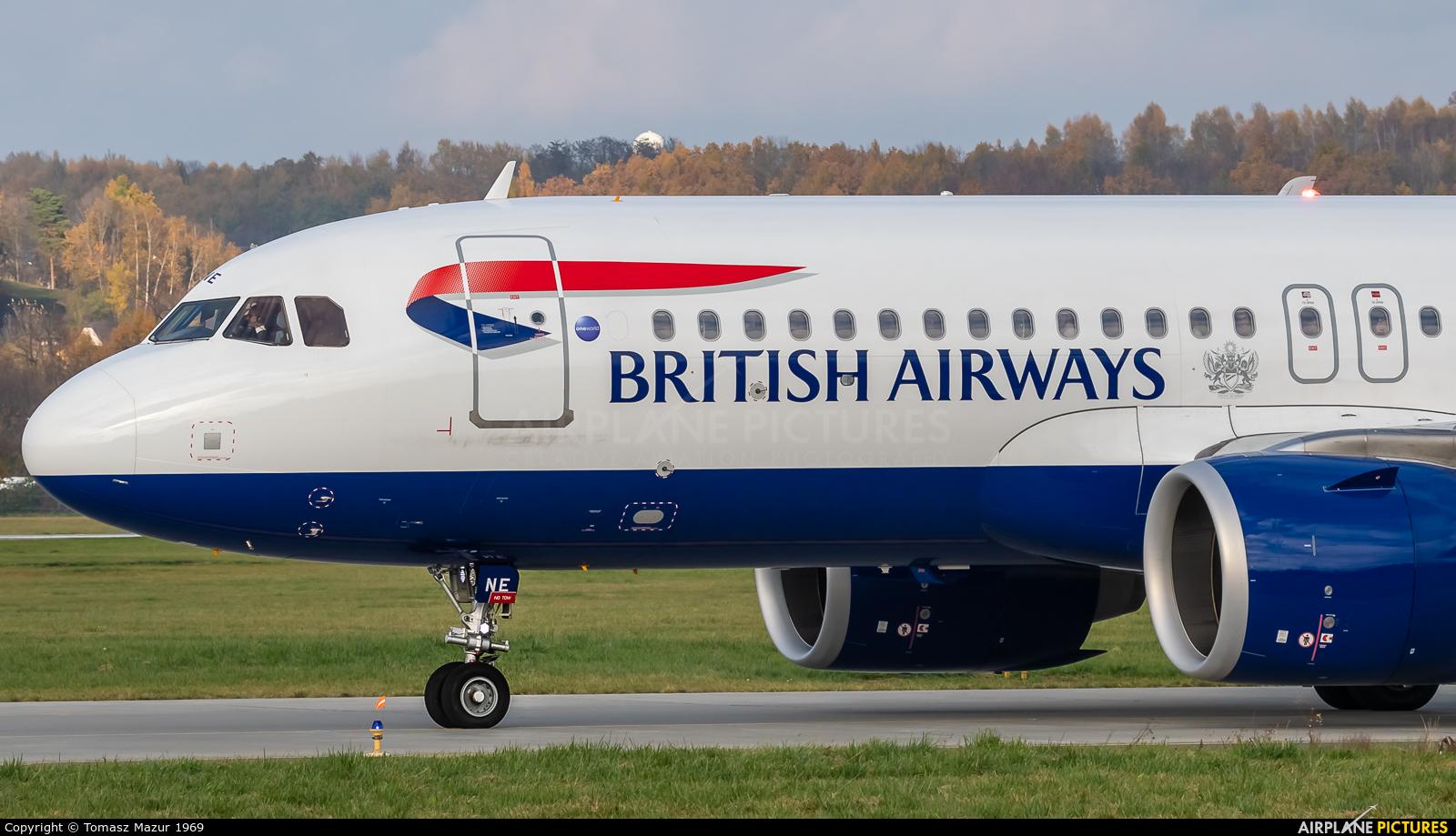 British Airways G-TTNE aircraft at Kraków - John Paul II Intl