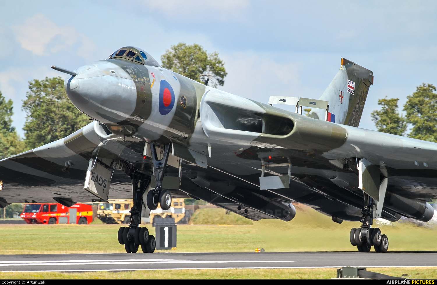 Vulcan to the Sky Trust XH558 aircraft at Fairford