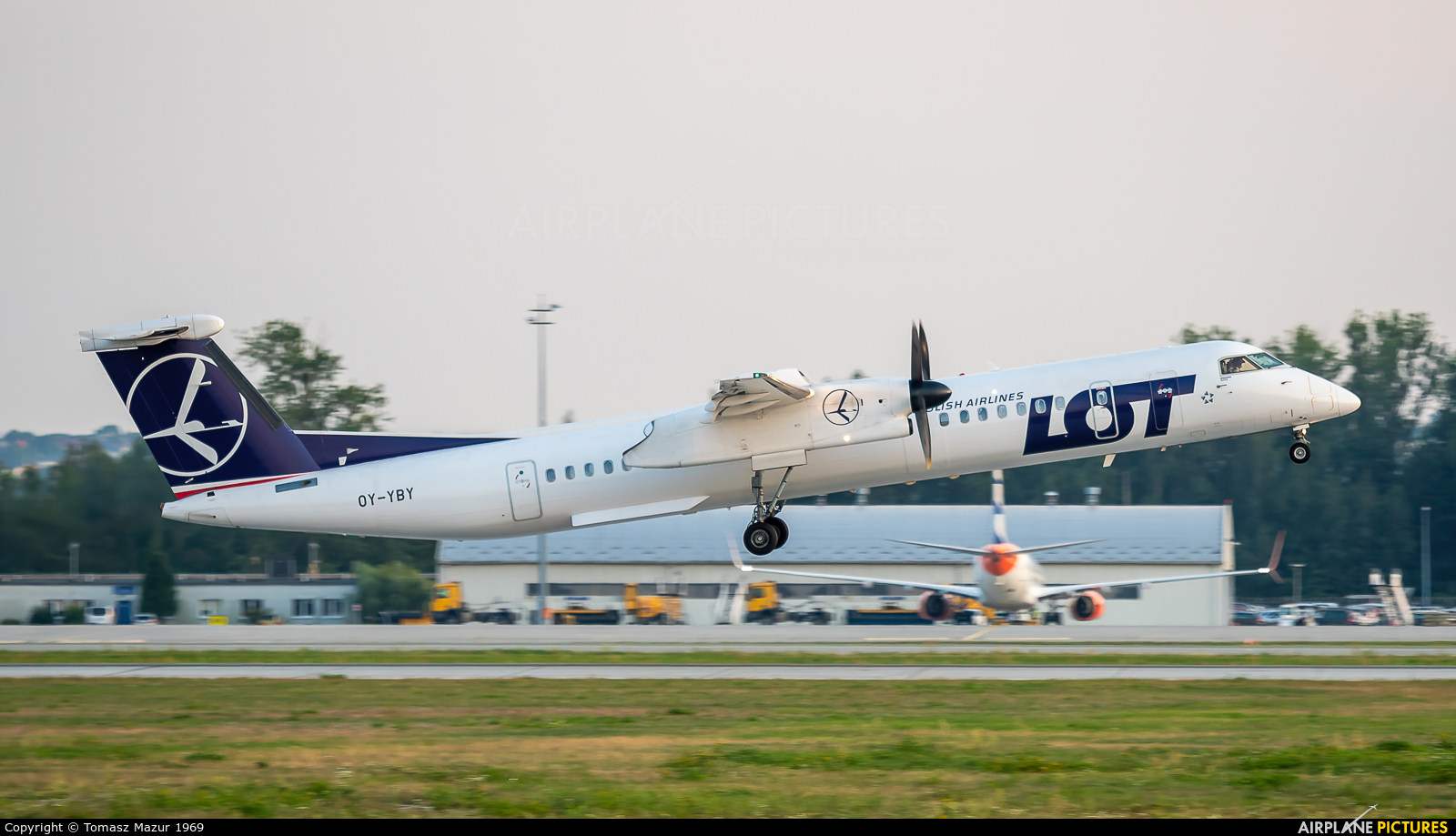 LOT - Polish Airlines OY-YBY aircraft at Katowice - Pyrzowice