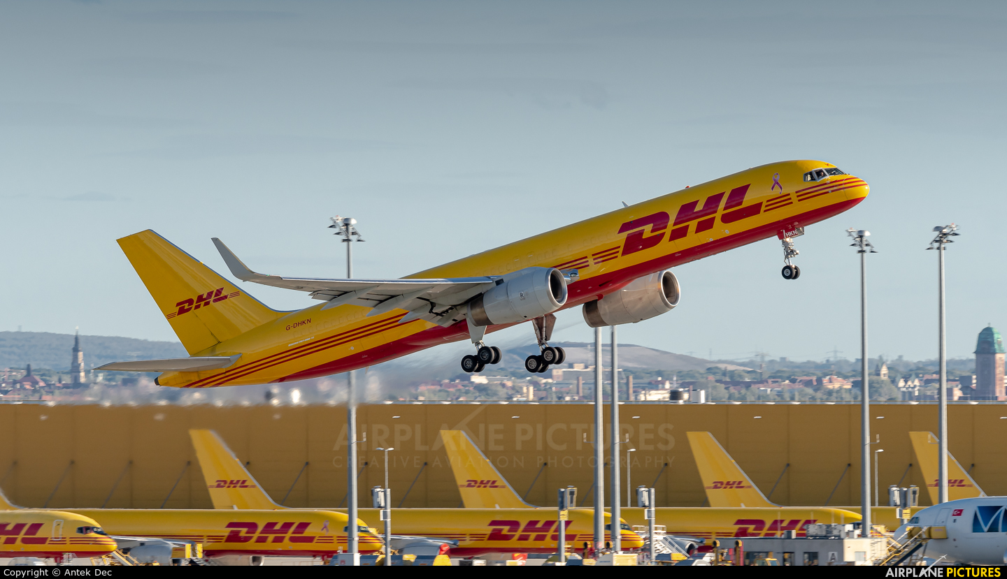 DHL Cargo G-DHKN aircraft at Leipzig - Halle
