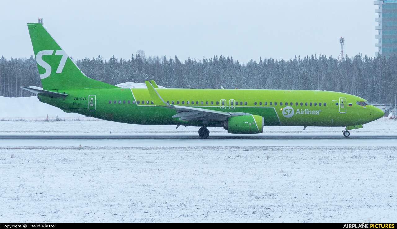 S7 Airlines VQ-BVL aircraft at Krasnoyarsk - Yemelyanovo