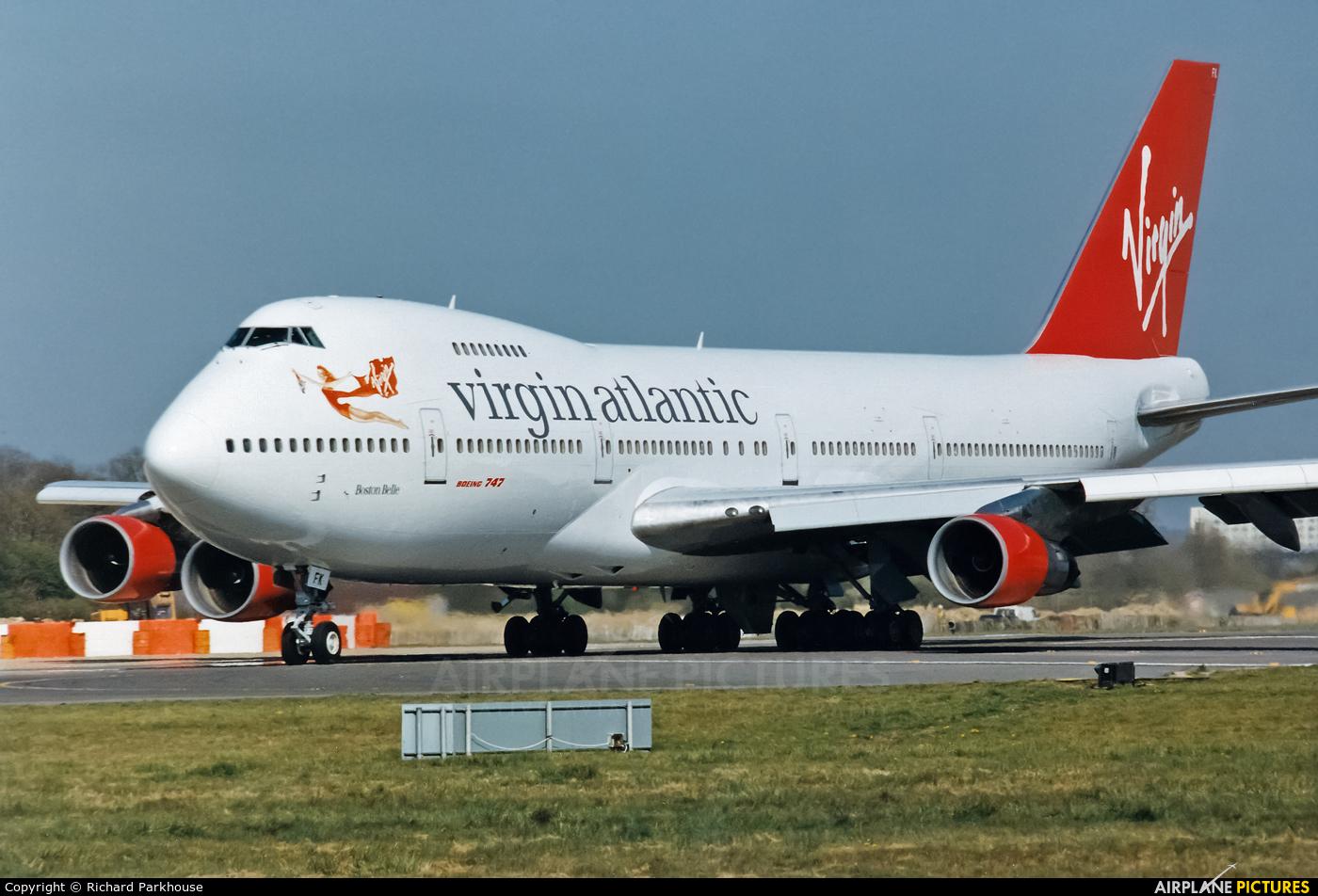 Virgin Atlantic G-VJFK aircraft at London - Gatwick