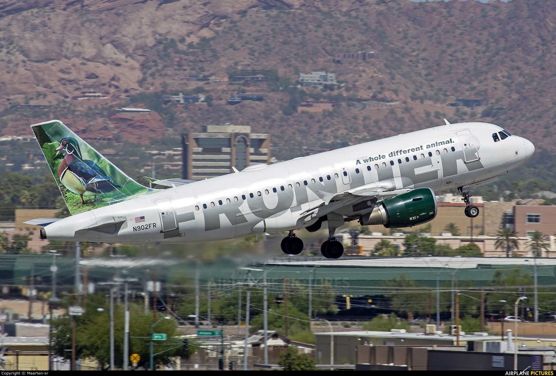 Frontier Airlines N902FR aircraft at Phoenix - Sky Harbor Intl