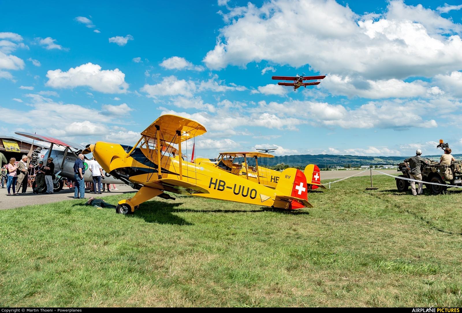 Private HB-UUO aircraft at Birrfeld