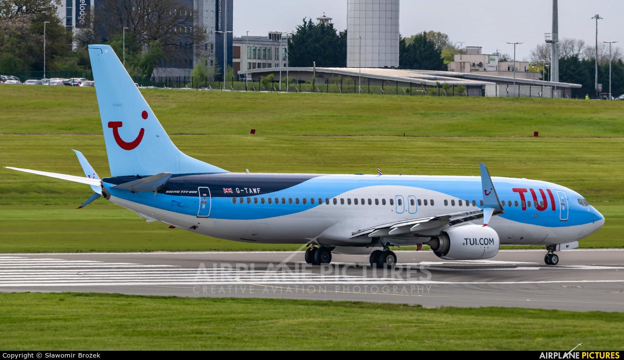 TUI Airways G-TAWF aircraft at Birmingham