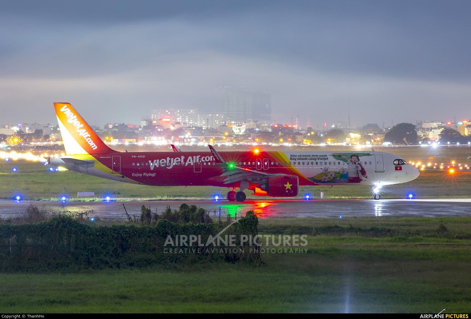VietJet Air VN-A521 aircraft at Ho Chi Minh City - Tan Son Nhat Intl